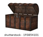 antique wooden chest isolated... | Shutterstock . vector #193854101