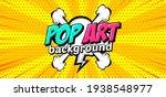 comic pop art cloud bubble.... | Shutterstock .eps vector #1938548977