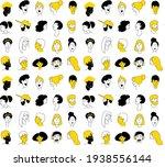 decorative diverse women men... | Shutterstock .eps vector #1938556144