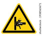 danger crush hazard symbol sign ... | Shutterstock .eps vector #1938563671