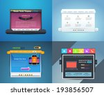 vector web template home page... | Shutterstock .eps vector #193856507