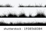 black grass silhouettes in set... | Shutterstock .eps vector #1938568384