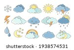 weather set. white clouds  dew...   Shutterstock .eps vector #1938574531