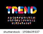 modern style font  trendy color ... | Shutterstock .eps vector #1938639337