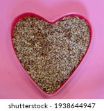 flax seeds in the shape of a... | Shutterstock . vector #1938644947