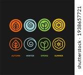 seasons flat vector icons.... | Shutterstock .eps vector #1938657721
