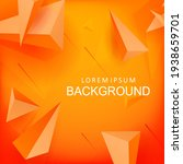 orange background with a... | Shutterstock .eps vector #1938659701