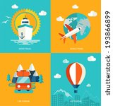 icons set of traveling ... | Shutterstock .eps vector #193866899