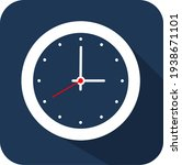 circle white clock  flat style  ...   Shutterstock .eps vector #1938671101