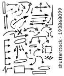 set of doodle arrows. hand... | Shutterstock .eps vector #193868099