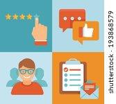 vector flat customer service... | Shutterstock .eps vector #193868579