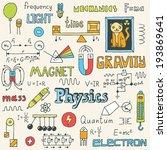 physics. hand drawn. vector... | Shutterstock .eps vector #193869641