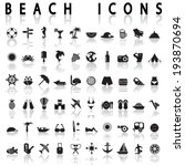 beach icons | Shutterstock .eps vector #193870694