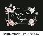 make impossible happen slogan... | Shutterstock .eps vector #1938708067