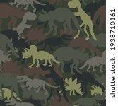 dinosaur skeleton camouflage... | Shutterstock .eps vector #1938710161