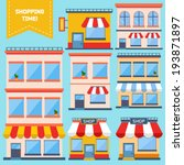 flat store icons collection  | Shutterstock .eps vector #193871897