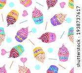 chocolate  vanilla and pink... | Shutterstock .eps vector #1938737617