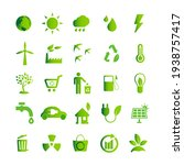 ecology green icon set  eco... | Shutterstock .eps vector #1938757417