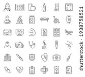sports doctor icon. outline... | Shutterstock .eps vector #1938758521