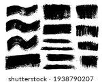brush strokes bundle. vector... | Shutterstock .eps vector #1938790207