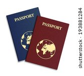 vector international passport... | Shutterstock .eps vector #193881284
