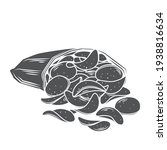 a bunch of potato chips spilled ... | Shutterstock .eps vector #1938816634