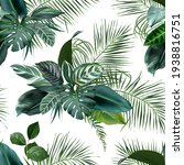 tropical greenery print with... | Shutterstock .eps vector #1938816751