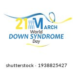 21 march  world down syndrome... | Shutterstock .eps vector #1938825427