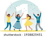 the man and women are... | Shutterstock .eps vector #1938825451