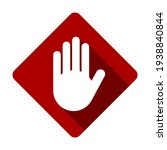 red stop hand palm block... | Shutterstock .eps vector #1938840844