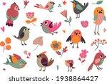 set of vector birds. cartoon...   Shutterstock .eps vector #1938864427