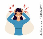 the woman suffers from... | Shutterstock .eps vector #1938869281