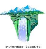 "illustration ""waterfall"" | Shutterstock .eps vector #19388758"