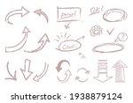 a set of handwritten arrow... | Shutterstock .eps vector #1938879124