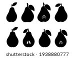 silhouette of a pear....   Shutterstock .eps vector #1938880777