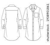 women long blouse flat fashion...   Shutterstock .eps vector #1938901861