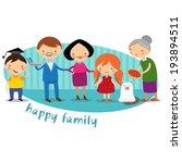 happy family | Shutterstock .eps vector #193894511