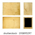 set of  old photo paper texture ... | Shutterstock . vector #193895297