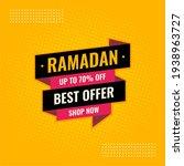 ramadan best offer yellow and... | Shutterstock .eps vector #1938963727