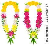 indian flower garland mala...   Shutterstock .eps vector #1938968437