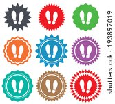 imprint soles shoes sign icon.... | Shutterstock .eps vector #193897019