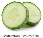 Cucumber Slice Isolated On...