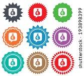 money bag sign icon. euro eur... | Shutterstock .eps vector #193898399