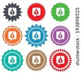 money bag sign icon. dollar usd ... | Shutterstock .eps vector #193898525
