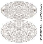 set contour illustrations of... | Shutterstock .eps vector #1939000627