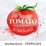 poster with red watercolor...   Shutterstock .eps vector #193901201