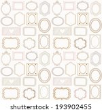 seamless doodle frame set  | Shutterstock .eps vector #193902455