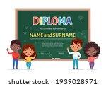 school kids diploma certificate ... | Shutterstock .eps vector #1939028971