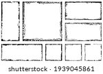 set of grunge square frames.... | Shutterstock .eps vector #1939045861