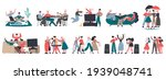 happy friends. group of friends ... | Shutterstock .eps vector #1939048741